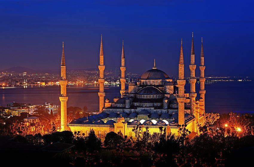土耳其蓝色清真寺
